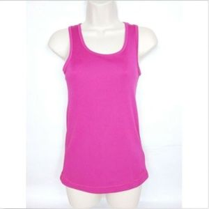 Reebok Women's Play Dry Tank Top Small Solid Pink